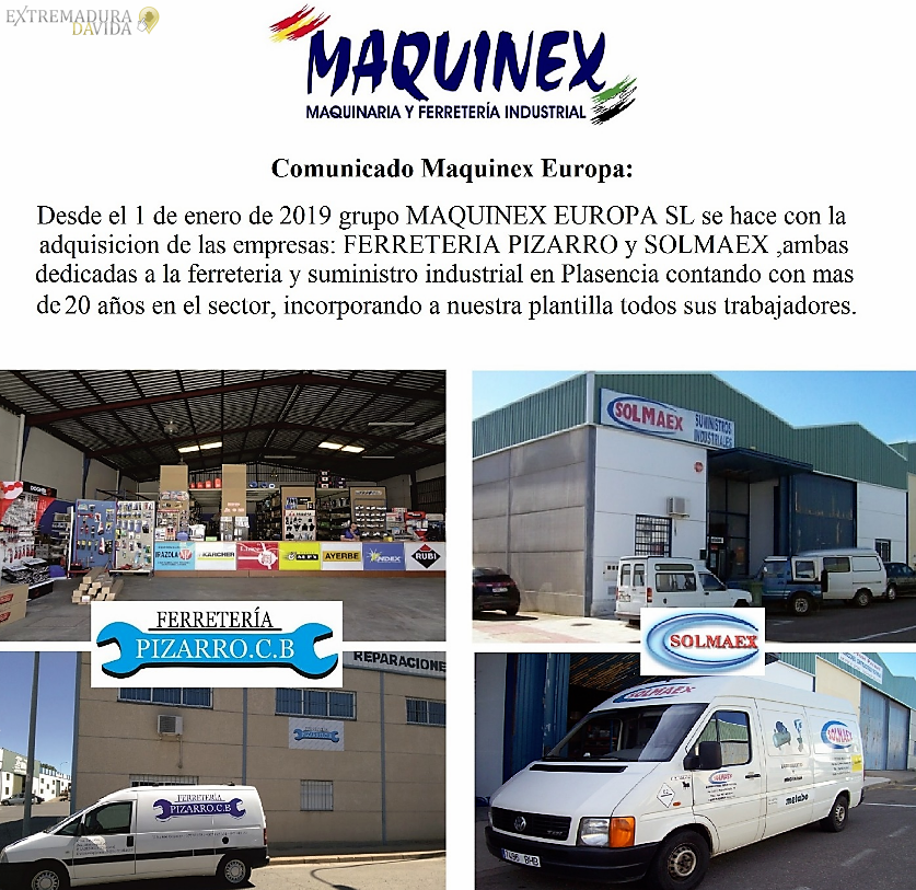 Ferretería industrial Extremadura Maquinex
