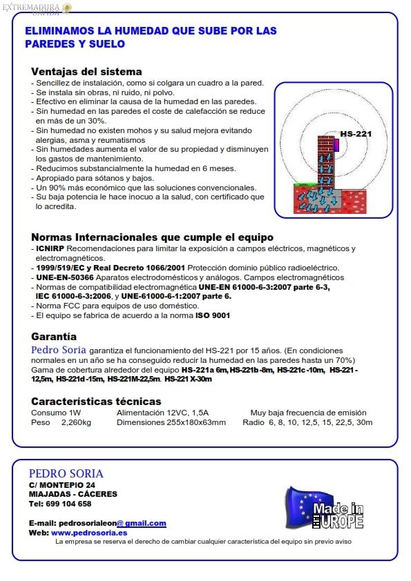 Especialistas humedades por radiofrecuencia Extremadura