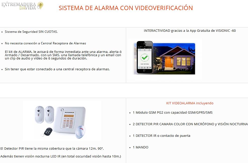 Sistemas de alarmas en Cáceres Procatel