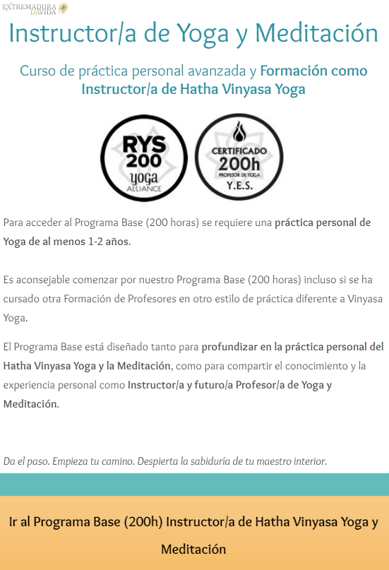 Yoga Almendralejo La Salita de Yoga formación