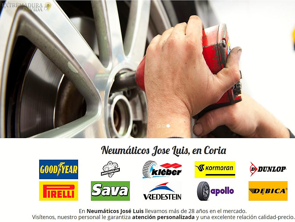 Neumáticos ruedas en Coría José Luis