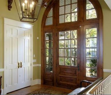 Cocinas muebles caceres trazos arroyo de la luz for Puertas en madera entrada principal