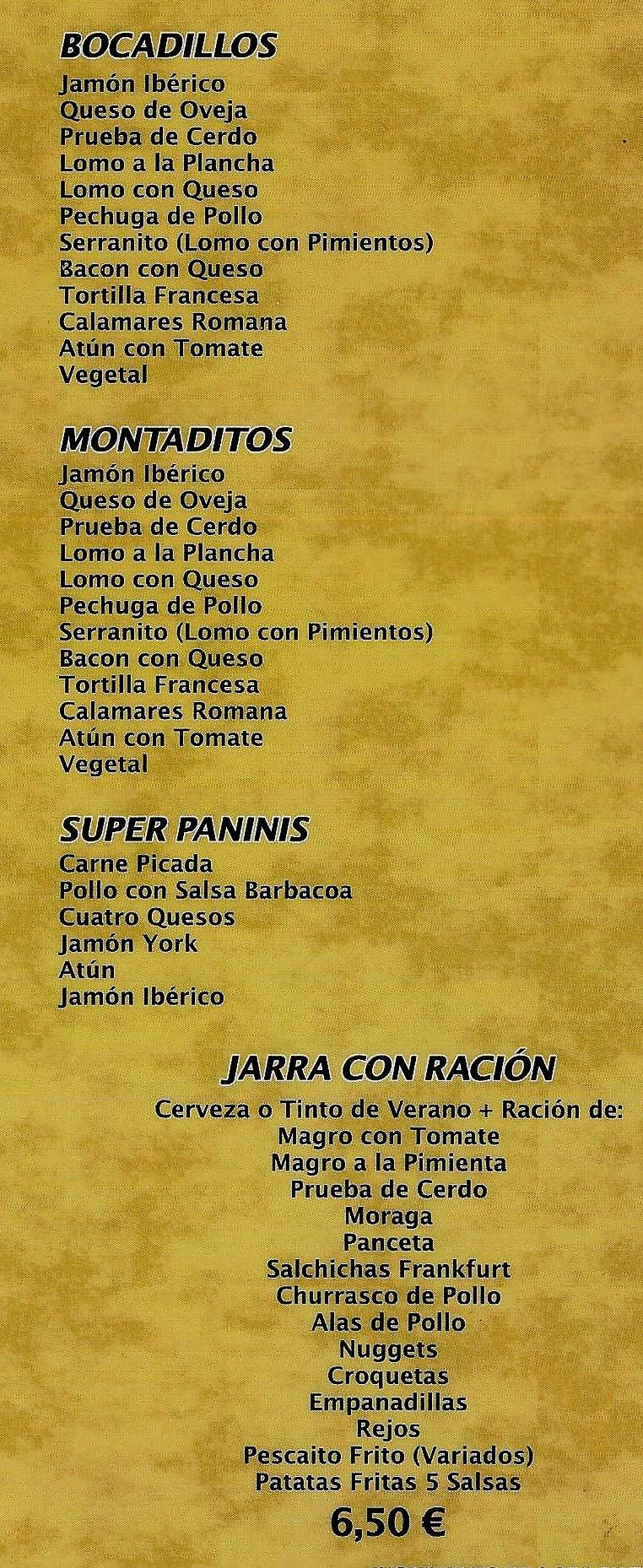 raciones tapas gastrobar Cáceres El Rinconcito 2.0