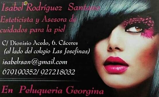 Esteticien Cáceres Isabel Rodriguez