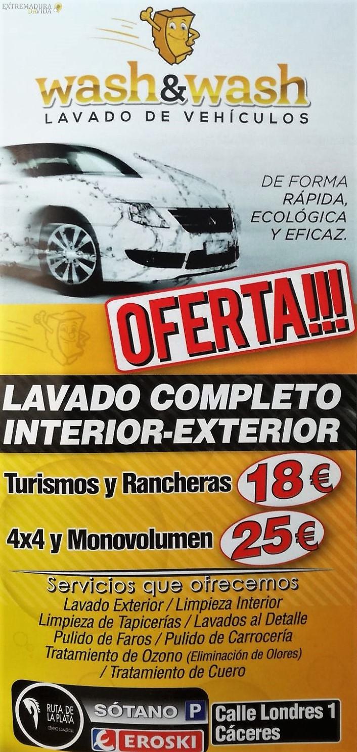 Lavadero en Cáceres de vehículos a mano Wash&Wash