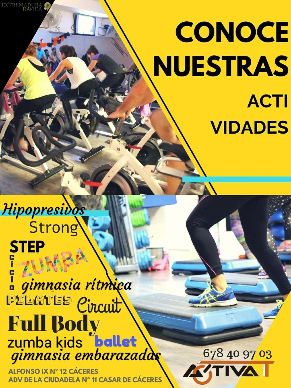 Centro de pilates zumba gym Cáceres Activat