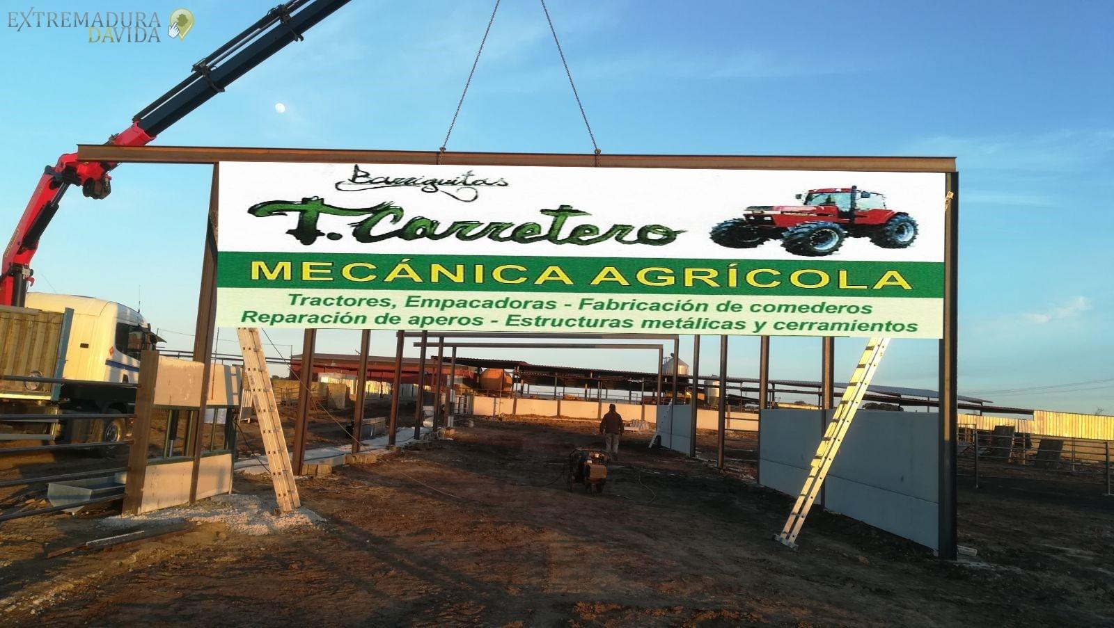TALLER MECANICA AGRICOLA T ESTRUCTURAS CACERES CARRETERO pOLIGONO GANADERO