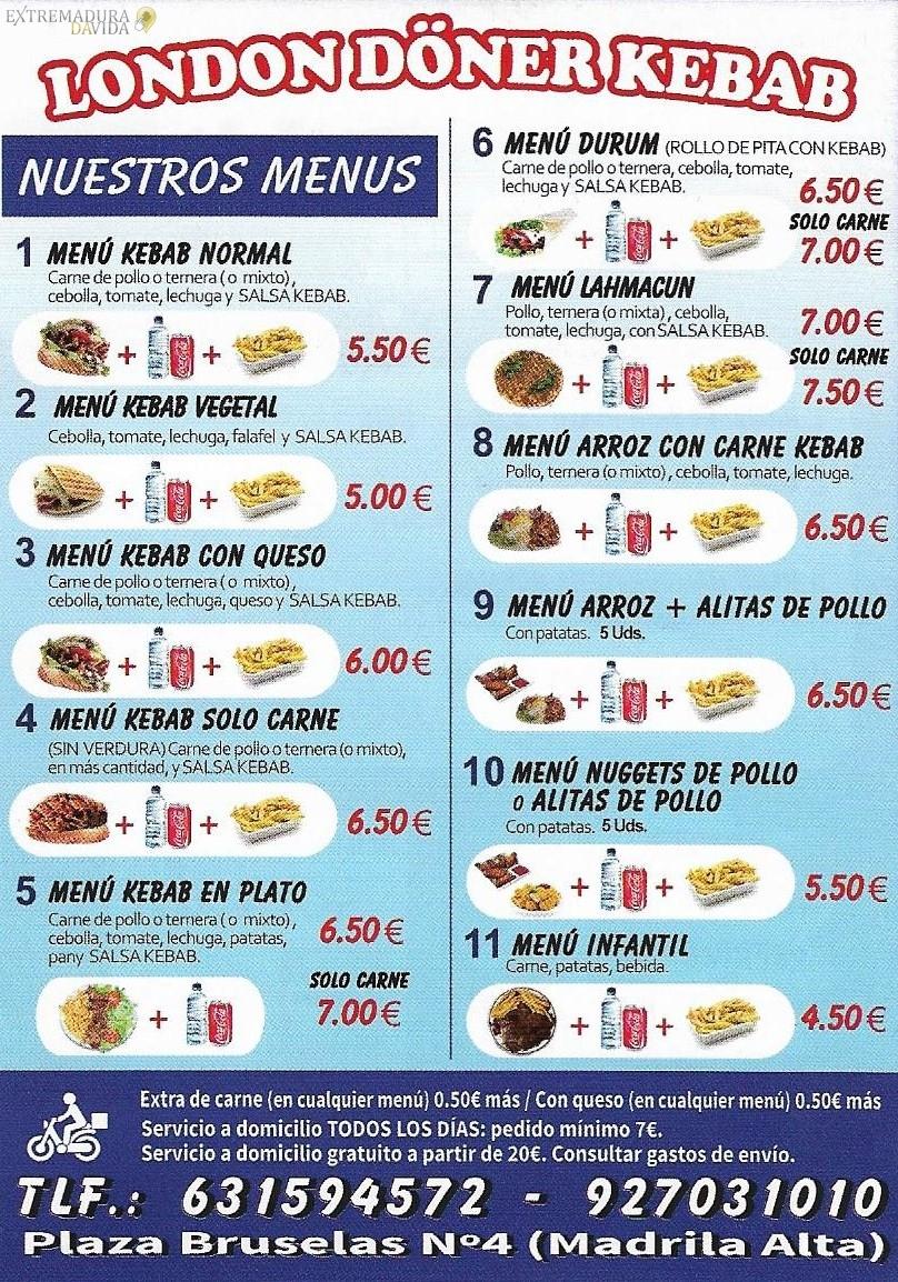 Kebab en Cáceres London Doner Kebab