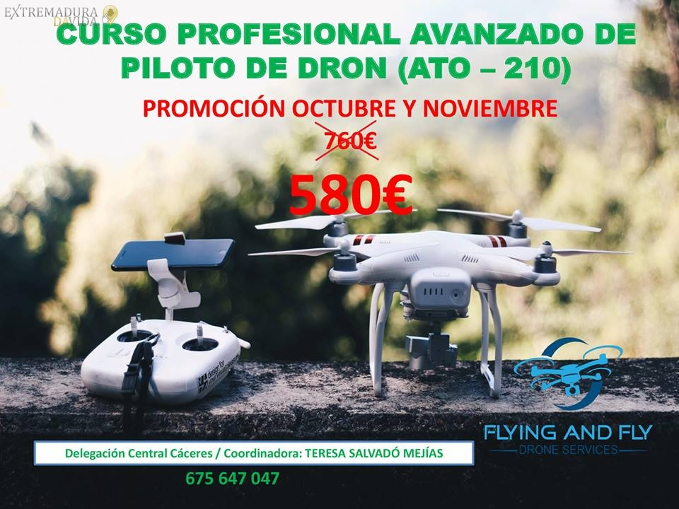CURSO PILOTO DE DRONES EXTREMADURA FLYING AND FLY CÁCERES