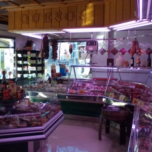 Tienda de embutidos y jamones de Extremadura Marsan en Jaraiz de la Vera