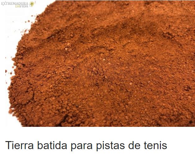 ARENA DE SILICE PISTAS DEPORTIVAS EXTREMADURA TARARITARARA
