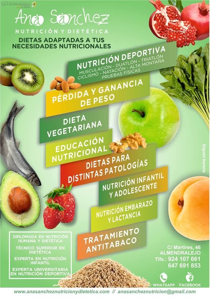 Nutricionista dietetíca en Almendralejo Ana Sanchez