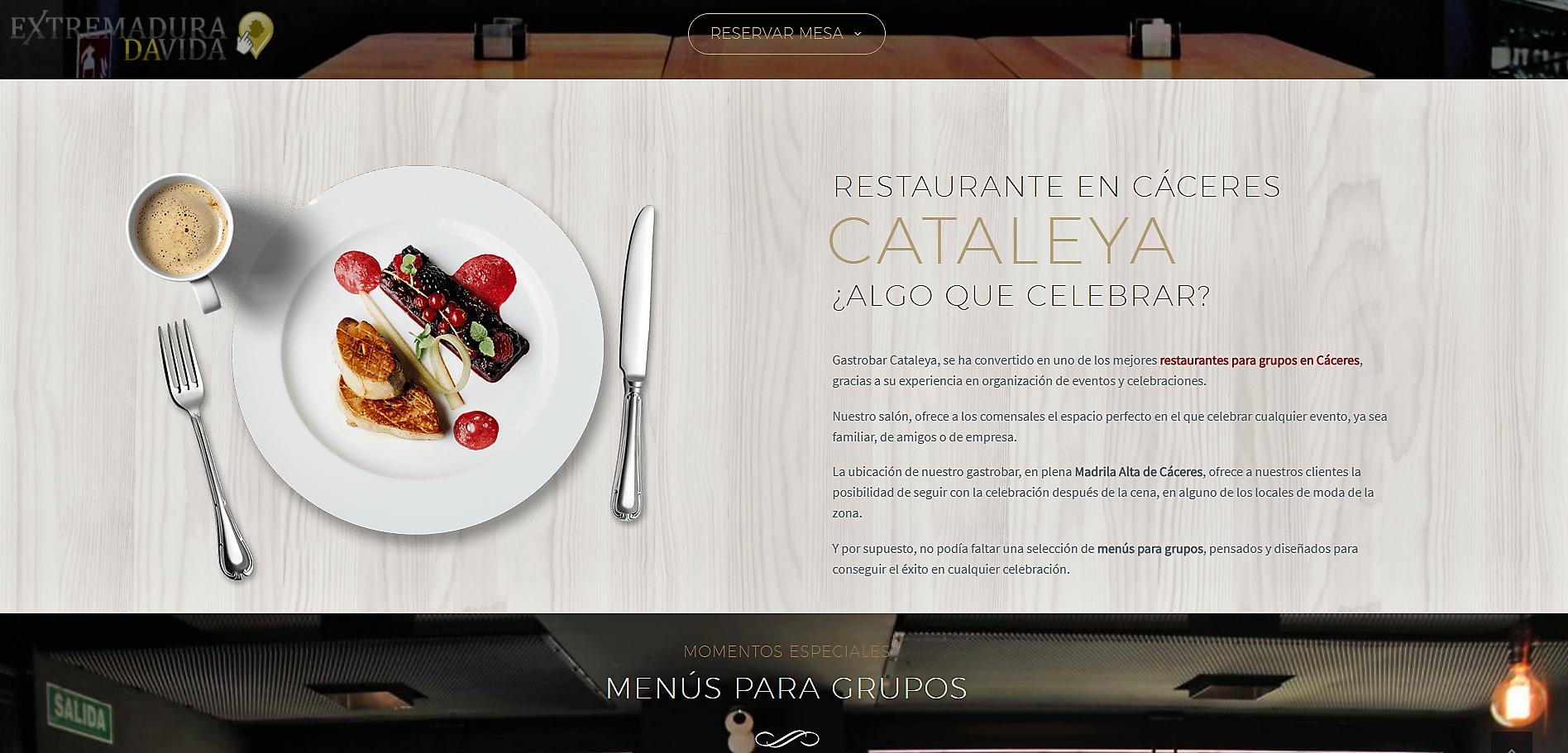 Restaurante en Cáceres Cocina de autor Cataleya Gastrobar