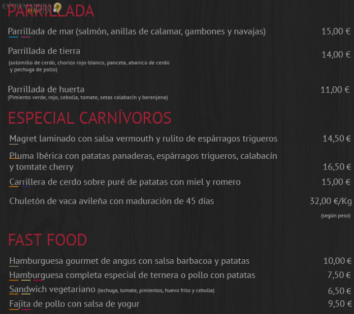 Restaurante en Cáceres Gastrobar Cataleya La Madrila