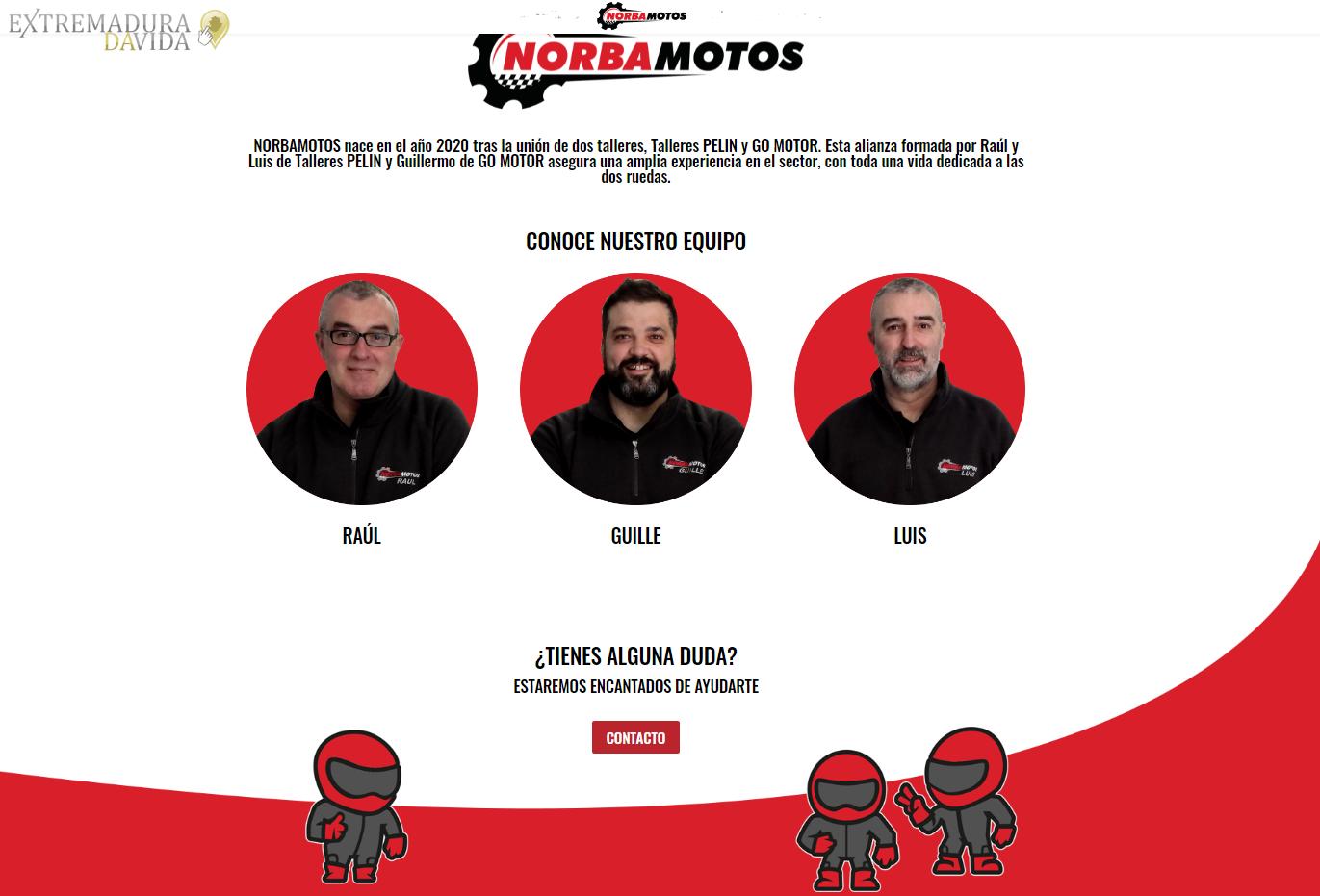 Taller concesionario de motos en Cáceres Norbamotos