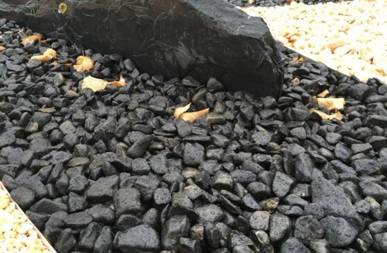 Piedra negra pequeña mouillure