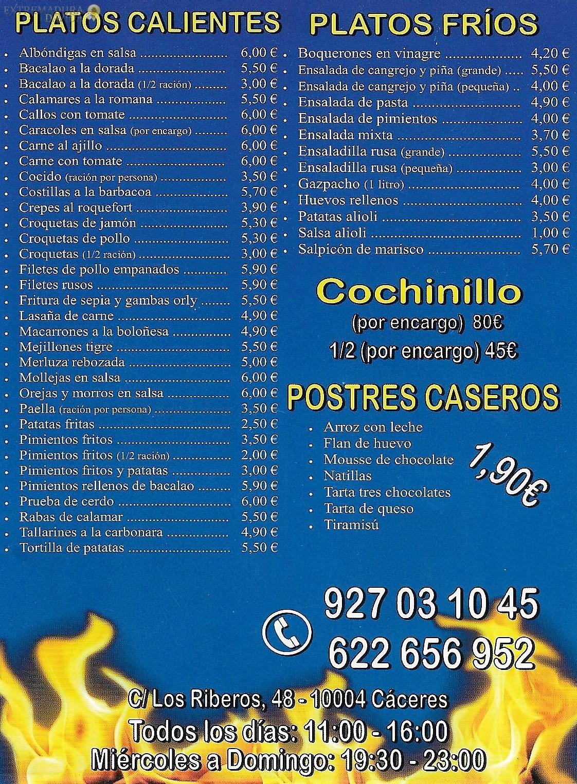 COMIDA RAPIDA Y POLLOS ASADOS EN CACERES EL PICHON