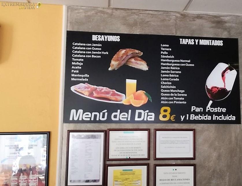 menú económico Don Benito Centro de Transporte