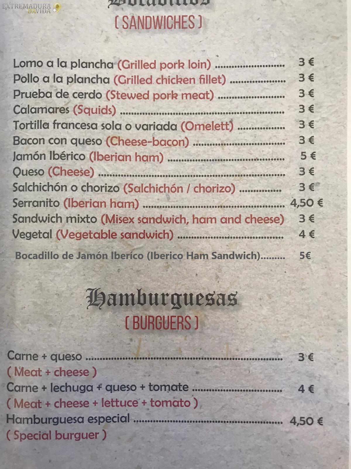 Restaurante en Almoharín El Descanso
