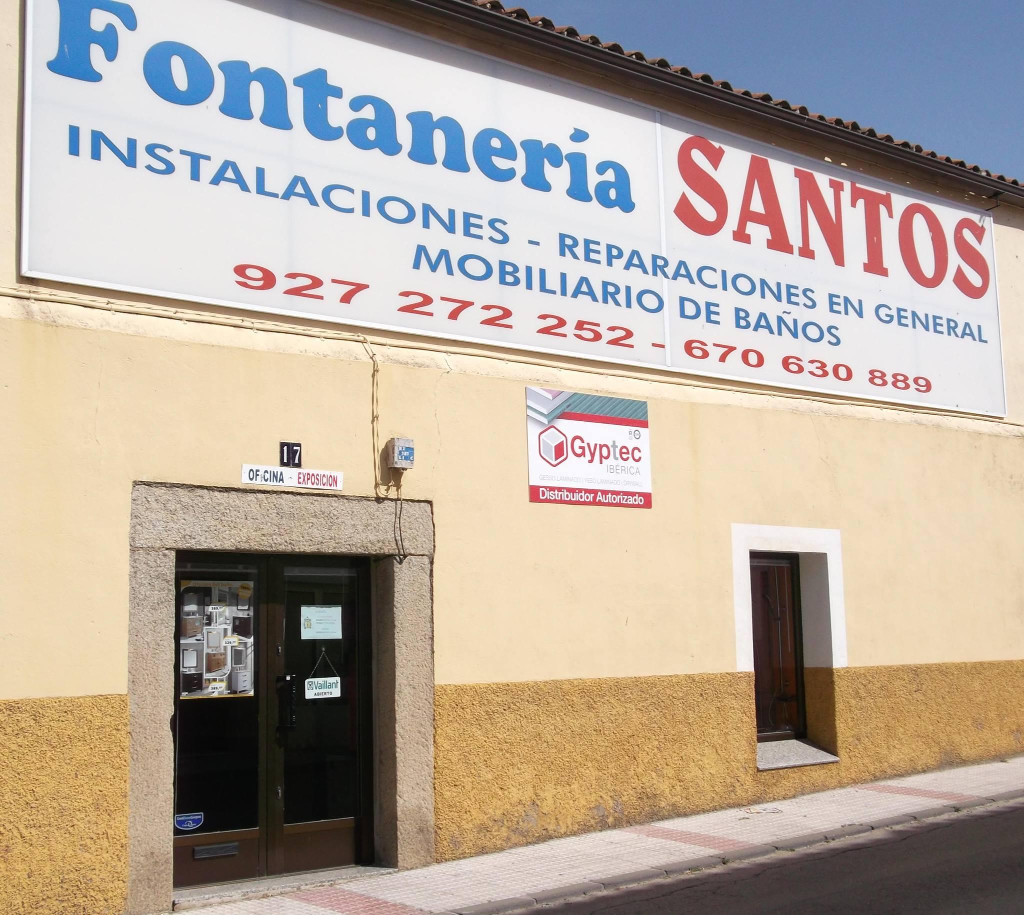 suministros chimeneas fontaneria Santos Arroyo da la Luz