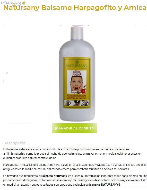 Crema para dolores natural ecologica Natursany