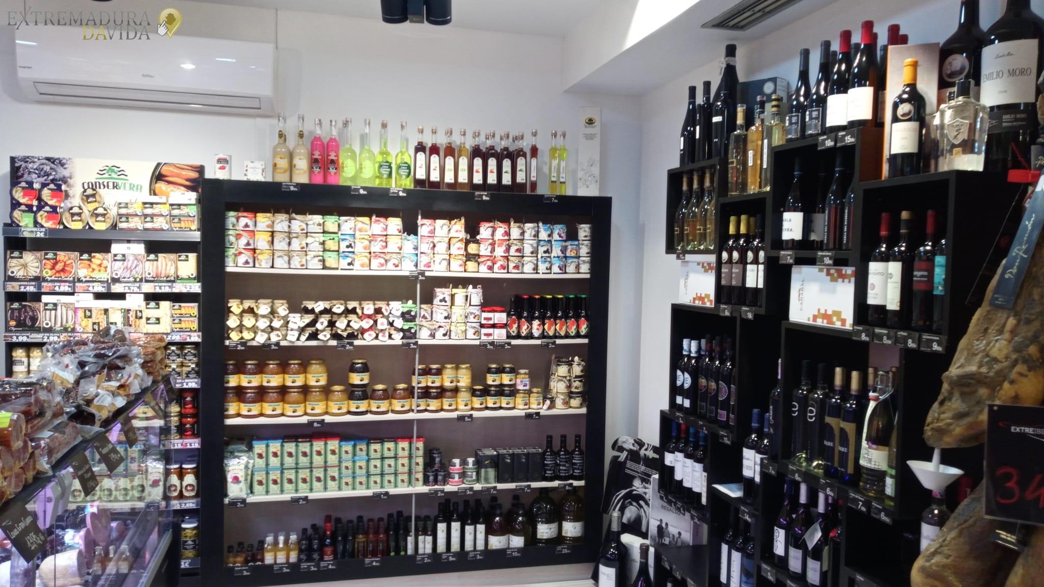 Productos Extremeños en el centro de Cáceres Extreibéricos