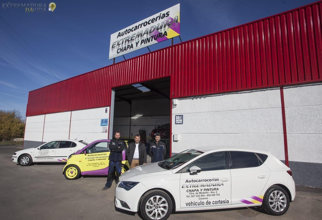 Taller chapa y pintura en Cáceres Autocarrocerias Extremadura