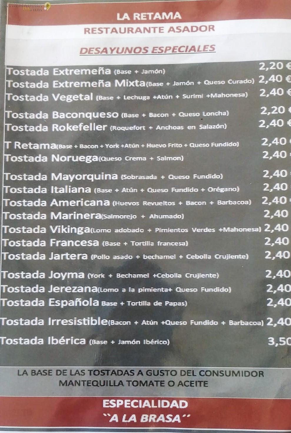 Restaurante Asador en Almendralejo La Retama