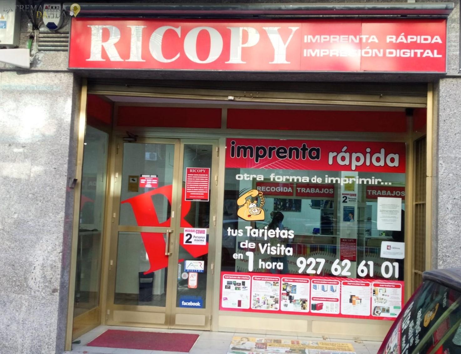 Imprenta en Cáceres Ricopy Copisteria