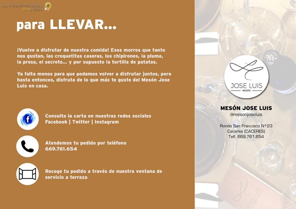 Para comer Hospital San Pedro De Alcántara Juzgados de Cáceres Mesón José Luis