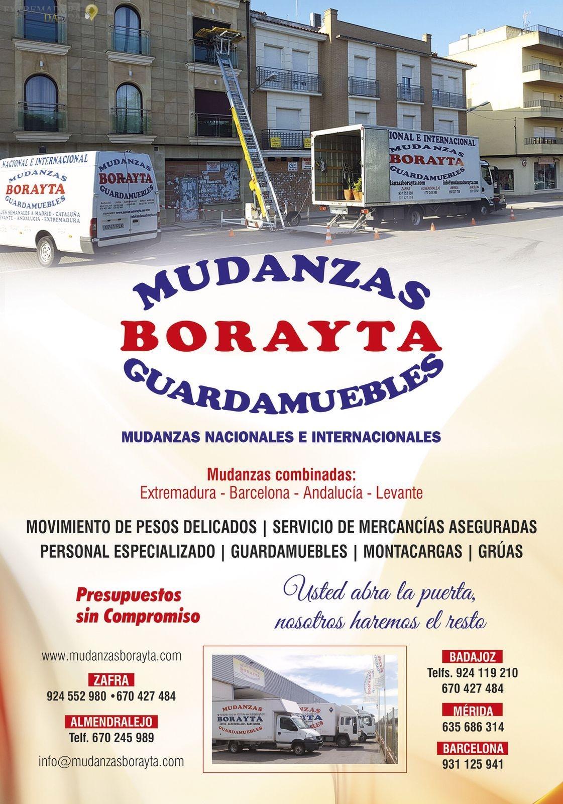 MUDANZA EN EXTREMADURA GUARDAMUEBLES BORAYTA