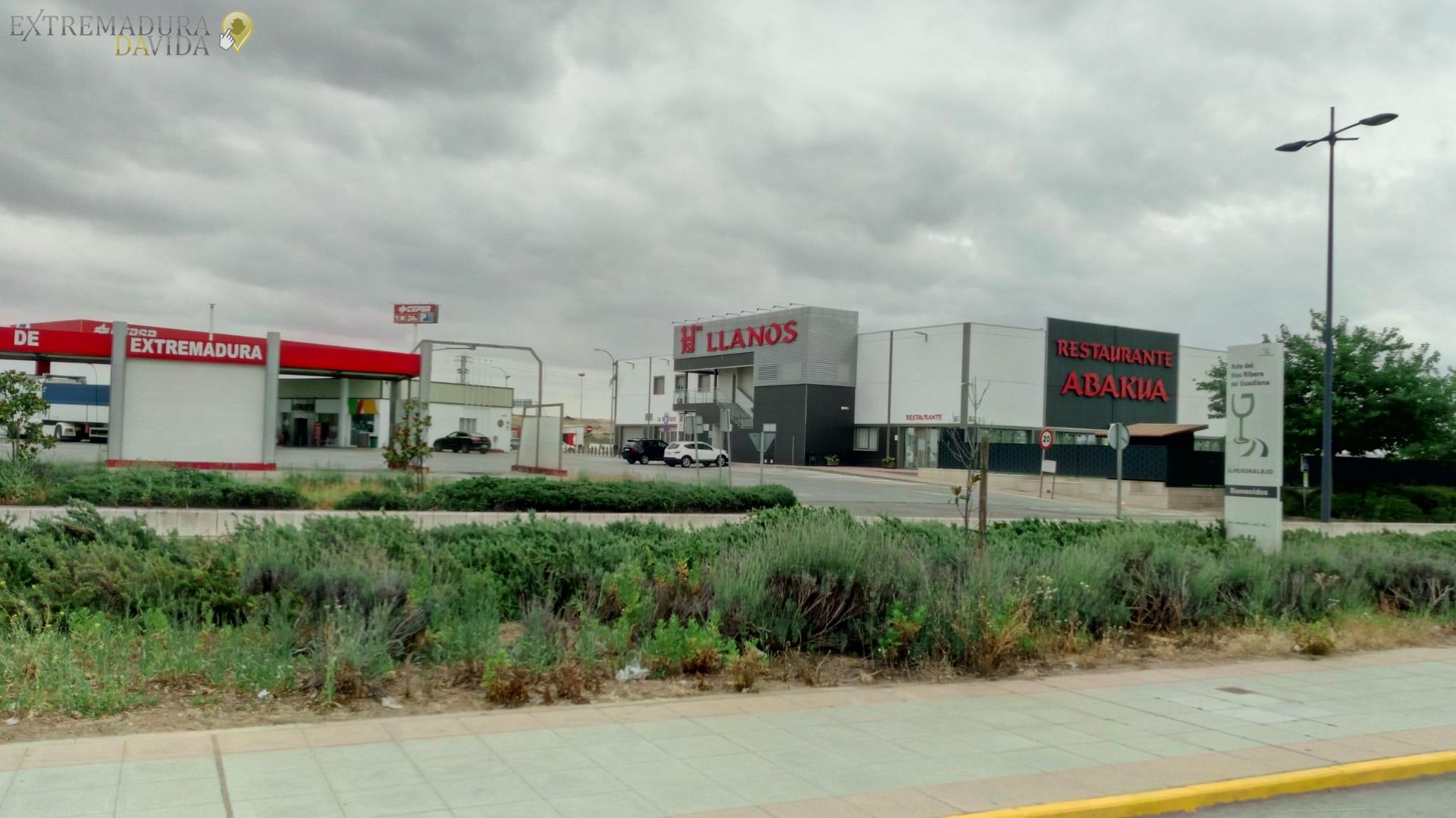 Area de descanso A66 Ruta de la Plata Los Llanos de Extremadura