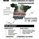 GRAN MANIFESTACIÓN DE AUTÓNOMOS EN CÁCERES 27 DE JUNIO